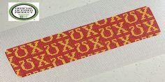 Chi Omega Needlepoint bracelet cuff canvas
