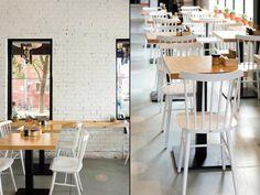 Лаконичный интерьер небольшого кафе BARRY, Мельбурн