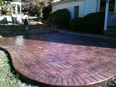 Stamped concrete patio pattern idea