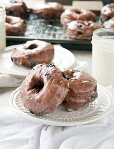 Cakey, homemade donuts stuffed with fresh, juicy blueberries and dunked in a lemon glaze.