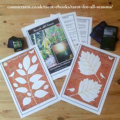 Tarot spreads for the autumn season. Download workbook with magickal journaling sheets #tarotspreads #spirituality #seasonaltarot #learntarot #divination