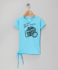 Take a look at this Aqua 'My Mom Shoots People' Tee - Toddler & Girls by Rainbow Swirlz on #zulily today!  LOL I have some photographer friends that this would be great for!!   Adorable camera photo prop turquoise t shirt for girls fashion back to school great gift idea for tweens and toddlers http://www.zulily.com/invite/handmadehandpickedboutique