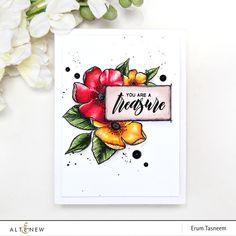 Altenew Adore You Stamp Set   Artist Markers   Erum Tasneem   @pr0digy0