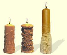 Kerze mit Wabe