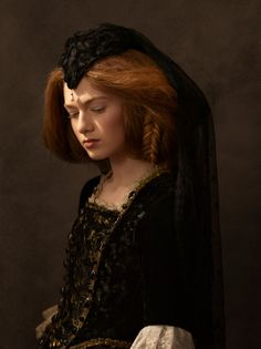 Portrait inspiré de la Peinture Flamande par Sacha Goldberger, photographe, via Behance