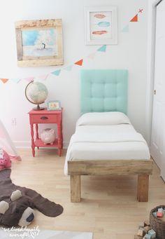 Un romántico dormitorio con reciclado y diy | Decorar tu casa es facilisimo.com