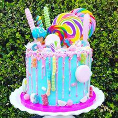 Best Photo of Candy Birthday Cake Candy Birthday Cake Pre Designed Cakes cake decorating recipes kuchen kindergeburtstag cakes ideas Candy Theme Birthday Party, Candy Birthday Cakes, Birthday Cake Girls, Candy Party, Candy Theme Cake, Candy Land Cakes, 7th Birthday, Birthday Cake Designs, Jojo Siwa Birthday Cake