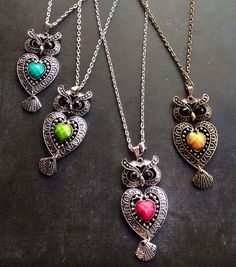 OWL NECKLACE, Bridesmaid Necklace, Gift, RHINESTONE Owl Pendant Retro Owl Jewelry Long Chain Necklace