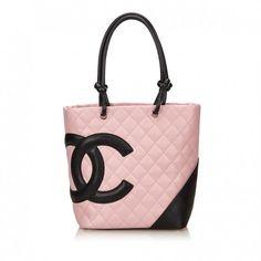 Chanel Cambon leather handbag Pink Shoulder Bags 60fd49bfe2b3b