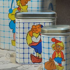 SET of 3 c. 1970 vintage nesting tin boxes   home by CoolVintage