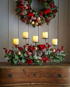 12 ideias para centros de mesa de natal noite de natal hall de entrada e cesto - Weihnachts deko im flur ...