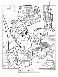 7 Free Printable VeggieTales In The House Coloring pages