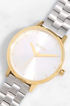 Nixon Kensington Gold and Silver Watch at Lulus.com!