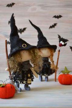 Little Witch Una-Kitchen Witch-Handmade by BroderieLittleCorner