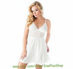 f5d07478307 bridal night lingerie Nightwear Chemise Camisole big plus curves queen size  xl 2xl 3xl 4xl for bbw x 2x 3x 4x eu 42-56