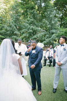 Elegant Outdoor Atlanta Wedding - crying groom