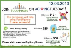 Support FoodFight on #GivingTuesday and help us bring our programming to 3 new schools in the upcoming year!