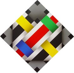 Omar Rayo (1928-2010)  was a Colombian painter, sculptor, caricaturist and plastic artist. He won the 1970 Salón de Artistas Colombianos. Rayo worked with abstract geometry primarily employing black, white and red. He was part of the Op Art movement. Rayo's work shows that geometric art is as much a part of the past as it is of the future. He used traces of the past to discover new ways to present visual and geometric sketches.