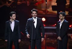 Il Volo during the tv show 'Heiligabend mit Carmen Nebel' on November 23, 2016 in Munich, Germany. The show will air on December 24, 2016.
