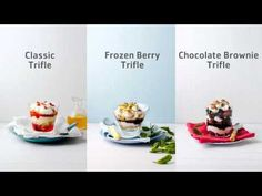 trifle, 3 ways - Pick n Pay Brownie Trifle, Trifle Desserts, Christmas Trifle, Yummy Treats, Yummy Food, Chocolate Brownies, Christmas Wishes, Berries, Frozen