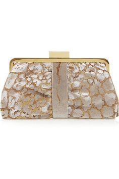 Women's Handbag (Designer Clutch) YSL - Yves Saint Lauren  Opera leopard-jacquard clutch
