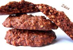 Csokis-diós keksz zabpehellyel Sin Gluten, Sweets, Beef, Cookies, Chocolate, Breakfast, Cake, Recipes, Google