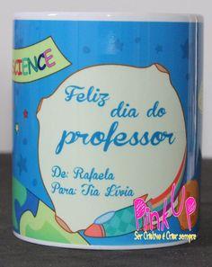 Caneca dia dos Professores #PinkUpCustom #Presente #personalizado #Caneca #Ceramica #Porcelana #DiaDosProfessores