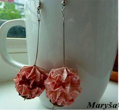 Origami Ball Lantern earrings Magic Ball Origami by MarysaArt
