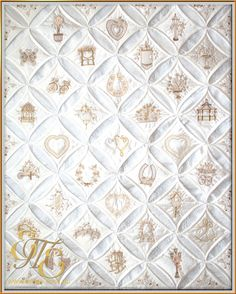 Daimonds & Pearls Cathedral Window Quilt