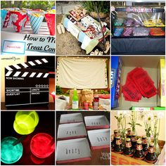 Skip a trip to the local movie theater and make your own outdoor movie night in your backyard. These DIY movie night ideas are so cute! Outdoor Movie Party, Movie Night Party, Party Time, Backyard Movie Nights, Outdoor Movie Nights, Motto, Outside Movie, Movie Collage, Fiestas Party
