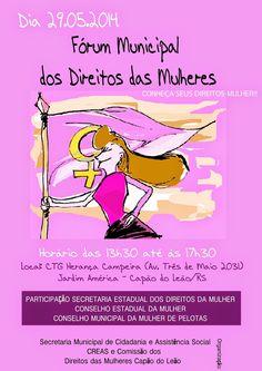 Conselho Municipal dos Direitos da Mulher de Pelotas: CMDM no Fórum Municipal dos Direitos das Mulheres, no Capão do Leão