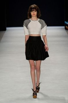 Trend Alert: Crop Tops Are Here to Stay - The Best Crop Tops From NYFW Spring 2014 - StyleBistro