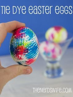 Get the effect on these Tie Dye Easter Eggs with just two supplies!