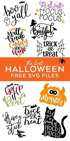 FREE Halloween SVG Cut Files - Make Easy Halloween Crafts with the best Halloween SVG Files curated by Pineapple Paper Co. #diyyourholiday #freesvg #svgfile #handlettered #diyhalloween #halloweensvg #hocuspocus #cricut #cricutmade #silhouettecameo