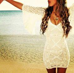 Ivelise Feito à Mão: Vestido De Crochê