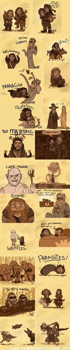 This is terrific. I love how Thorin knocks Thranduil's drink right of his hand! hahaha!