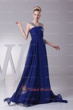139.00$  Buy here - http://virow.justgood.pw/vig/item.php?t=gzd0dq15944 - Royal Blue Pleated Beaded Chiffon Long Prom Dresses With Trains 139.00$