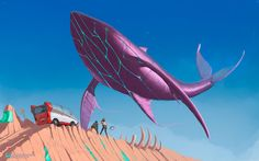 Flying Whale - New Discovery by grindeath-art.deviantart.com on @DeviantArt