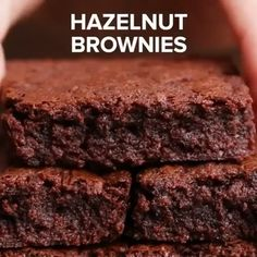 Fun Baking Recipes, Easy Cake Recipes, Brownie Recipes, Chocolate Recipes, Sweet Recipes, Dessert Recipes, Cooking Recipes, Chocolate Videos, Chocolate Hazelnut