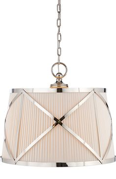 GROSVENOR LARGE SINGLE PENDANT | Circa Lighting - polished nickel
