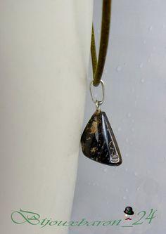 Ketten kurz - Leder - Halskette, Matrix Opal - ein Designerstück von Bijouxbaron bei DaWanda