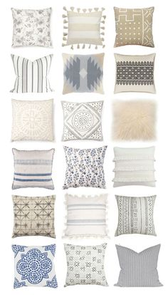 18 Neutral Throw Pillows to Spruce Up Any Space, with plenty on SALE. Click through for the details. | glitterinc.com | @glitterinc #Pillow
