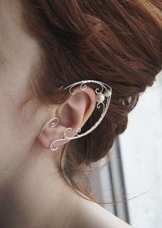 Elven ears (a pair). Earcuffs, Elf ears, fantasy decoration for ears. by StoneSongBijouterie on Etsy