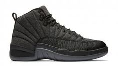 Air Jordan 12 Retro Wool Dark Grey/Metallic Silver-Black 852627-003