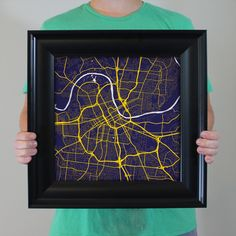 Map art print of Nashville, TN - Celebrate some of the best cities the in the world with fine art maps from City Prints. Illustrated in bold colors inspired by their city flags, these prints look like modern art but also represent the places you're most passionate about. City Prints are truly the perfect personalized gift.