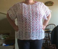 Crochet Scalloped Top Scallop Top, Crochet Tops, Crochet Projects, Lace, Women, Fashion, Moda, Women's, La Mode