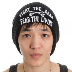 Walking Dead Fight the Dead Fear the Living Cuff Hat Cap Beanie Cosplay New  #WalkingDead #Beanie