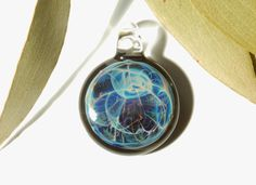 Space Amulet - Glass Necklace Pendant, Galaxy Filament, Lampwork, Original Design, Complex Magic, Blown Glass, Made with Pure Fine Silver.