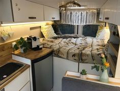 Cozy home on wheels @SprintersVanlife for more.. by @ourducatohome