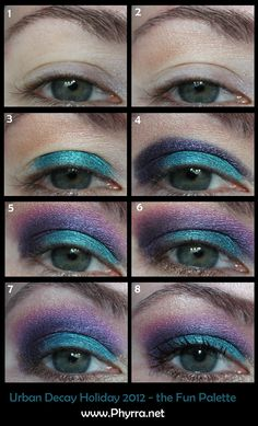 Urban Decay Holiday 2012 Fun Palette Tutorial. Pin now, play later :)